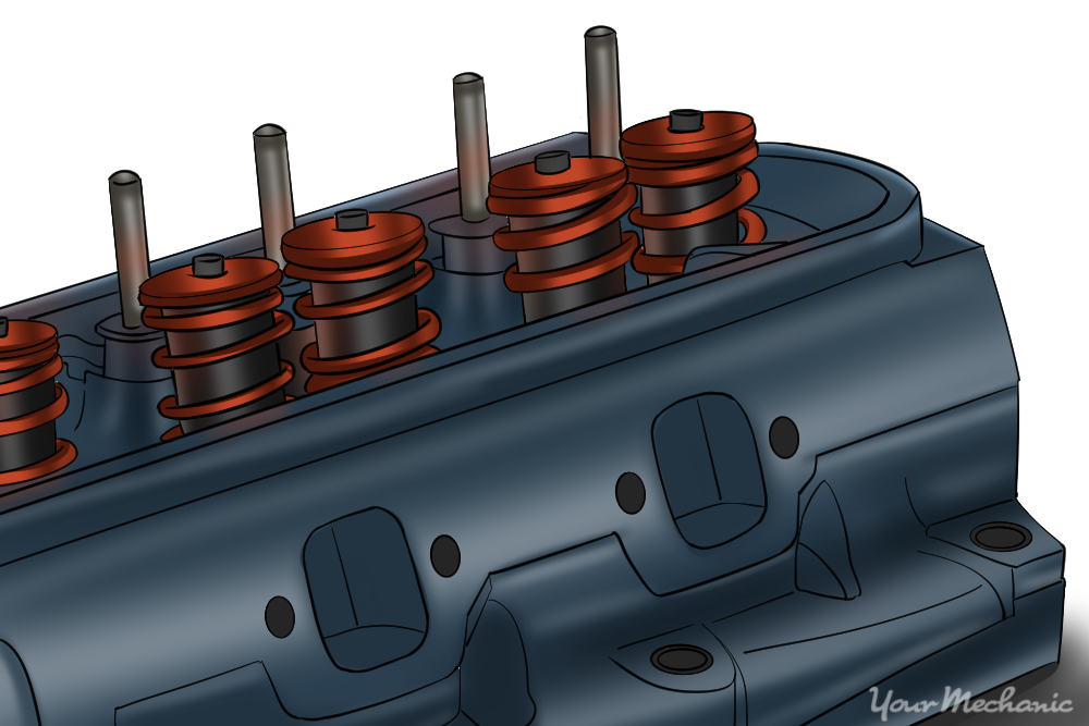 close up of cylinder heads