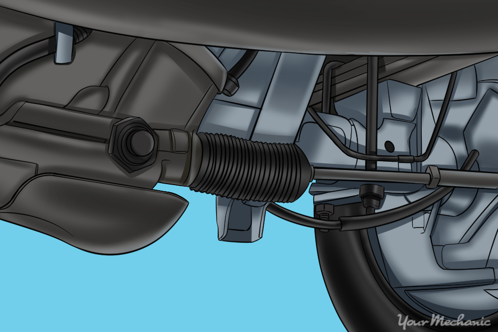 view of car rear axle from below