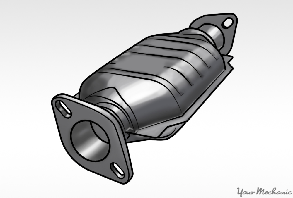 catalytic converter with  white background