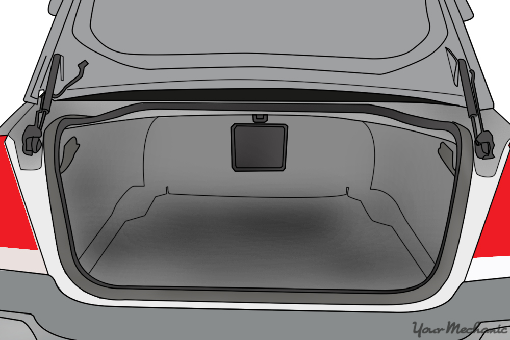 vehicle showing trunk open with the trunk latch