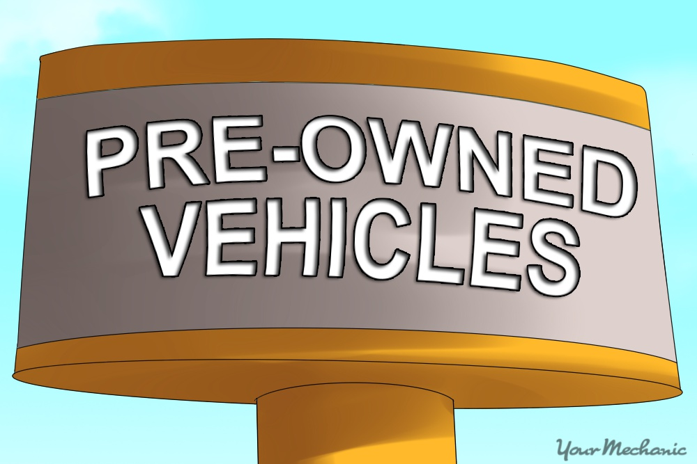 pre owned vehicle sign