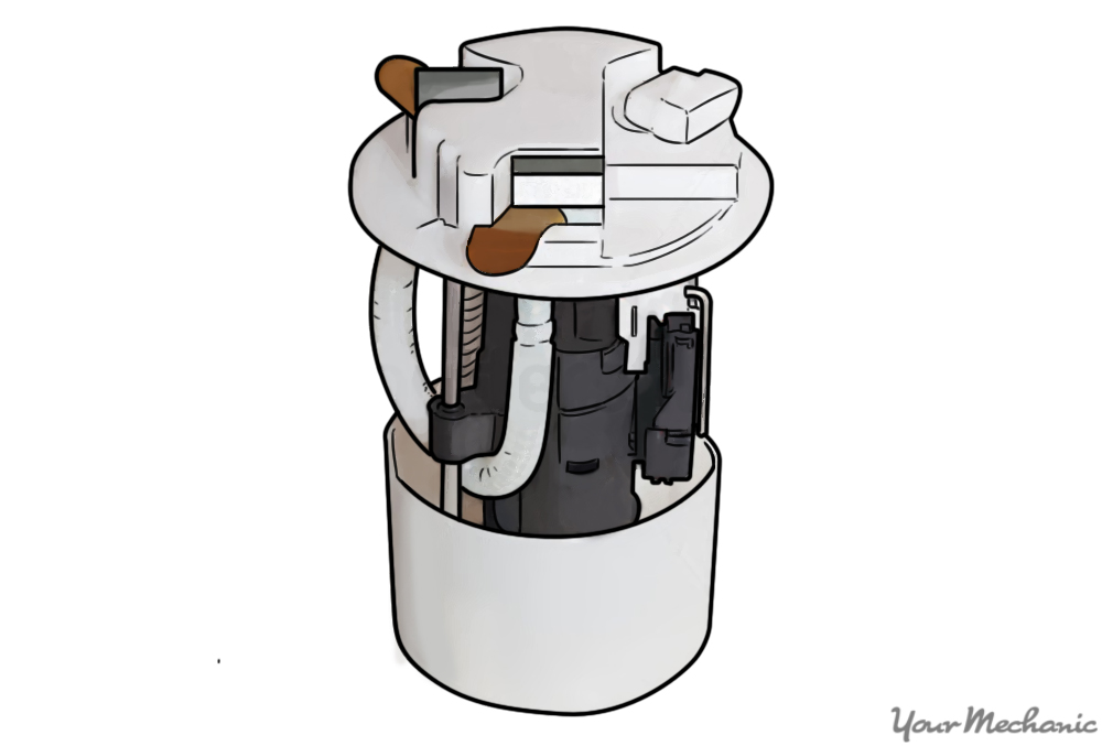 Electric fuel pump out of a fuel tank