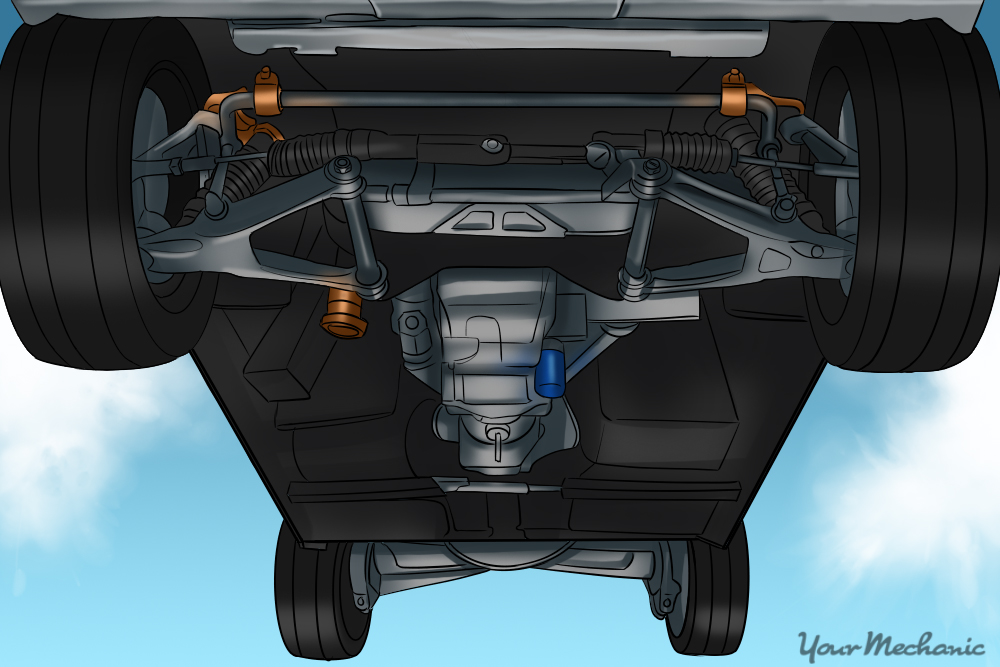 How To Check A Front End Assembly Showing The Front End Assembly Of A Vehicle on Chevy Astro Parts Diagram