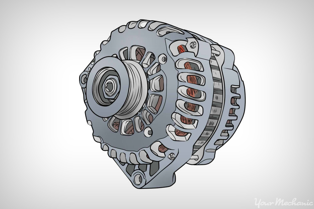 alternator with no belt