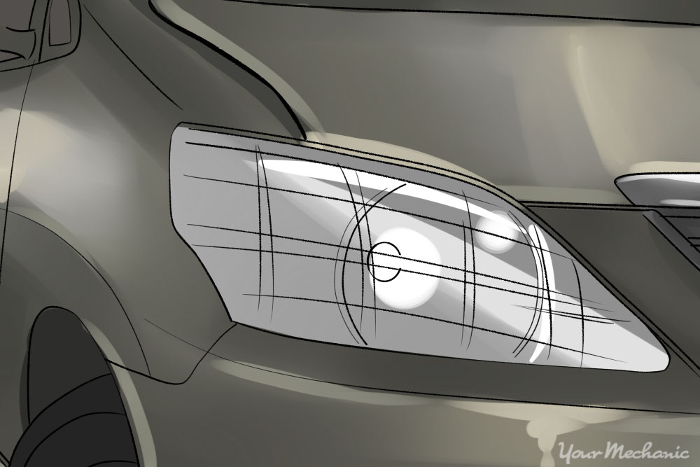 close up of headlights