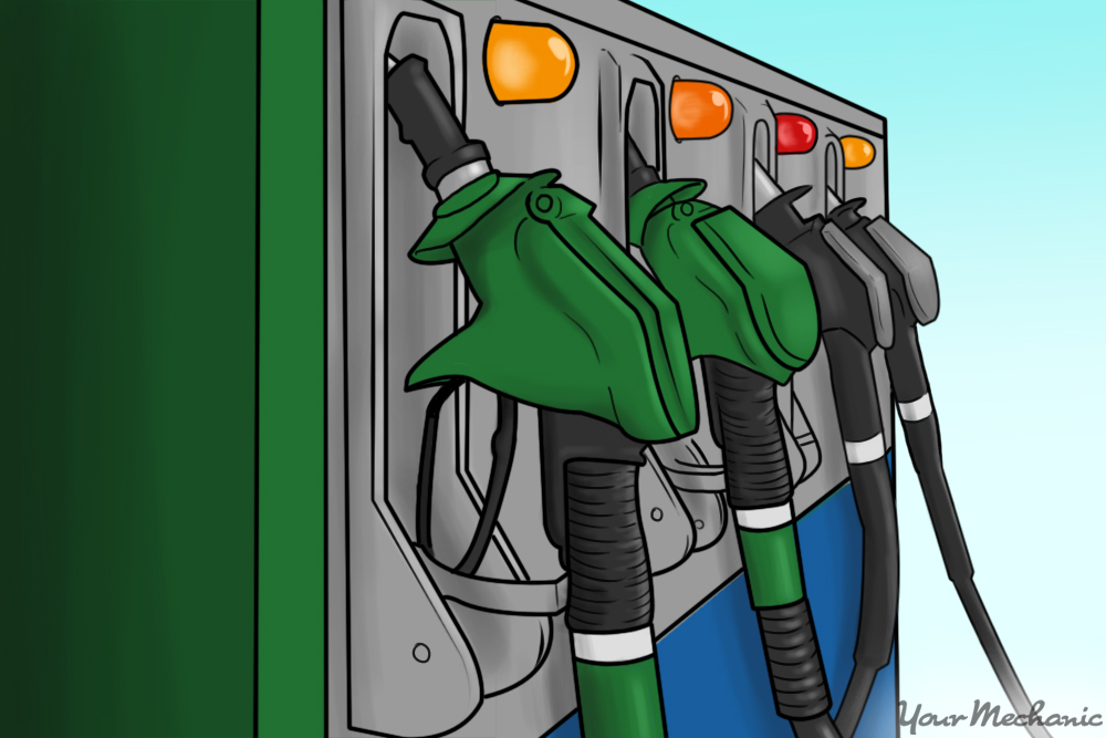 gas pumps with different options