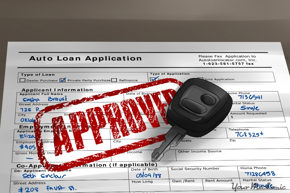 auto loan application form approval