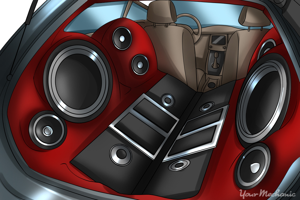 how to diagnose blown car speakers yourmechanic advice. Black Bedroom Furniture Sets. Home Design Ideas