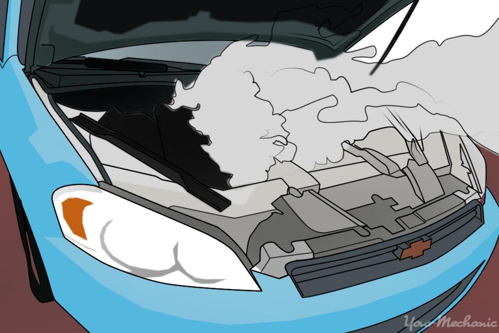 a car overheating