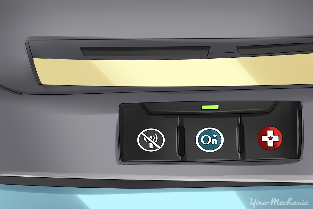 panel of buttons with one being onstar