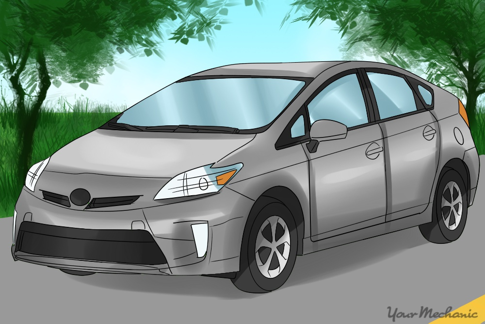 side view of a toyota prius