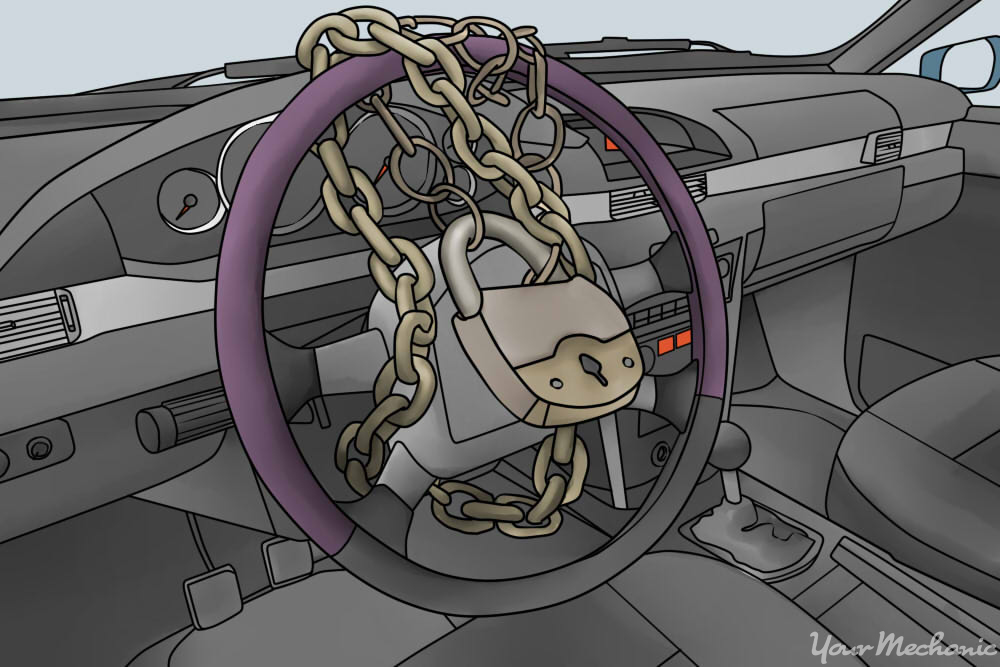 steering wheel with locks in it