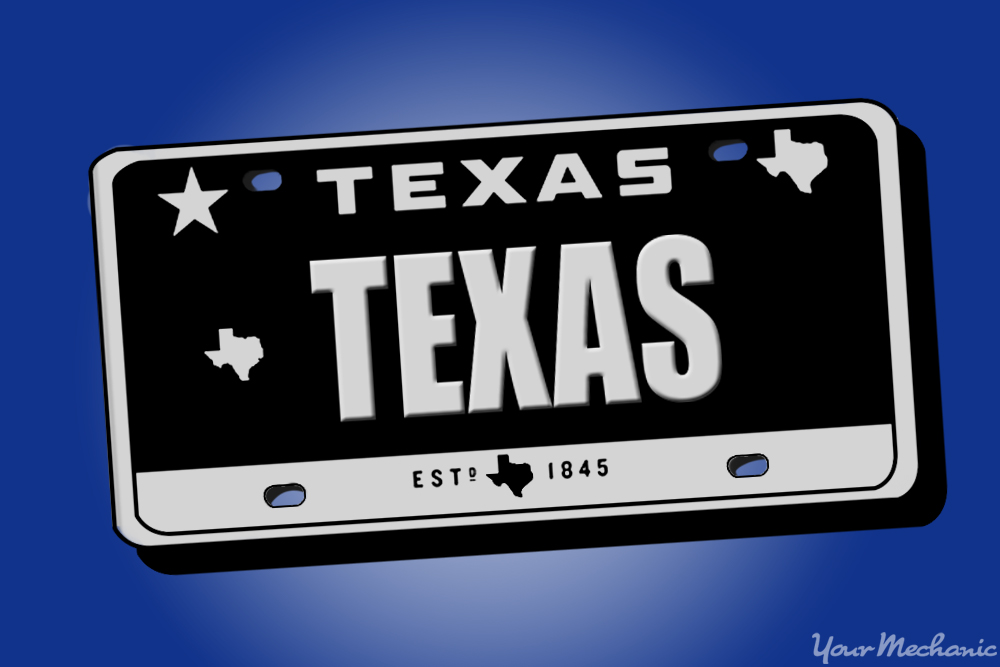 how to buy a personalized license plate in texas yourmechanic advice. Black Bedroom Furniture Sets. Home Design Ideas
