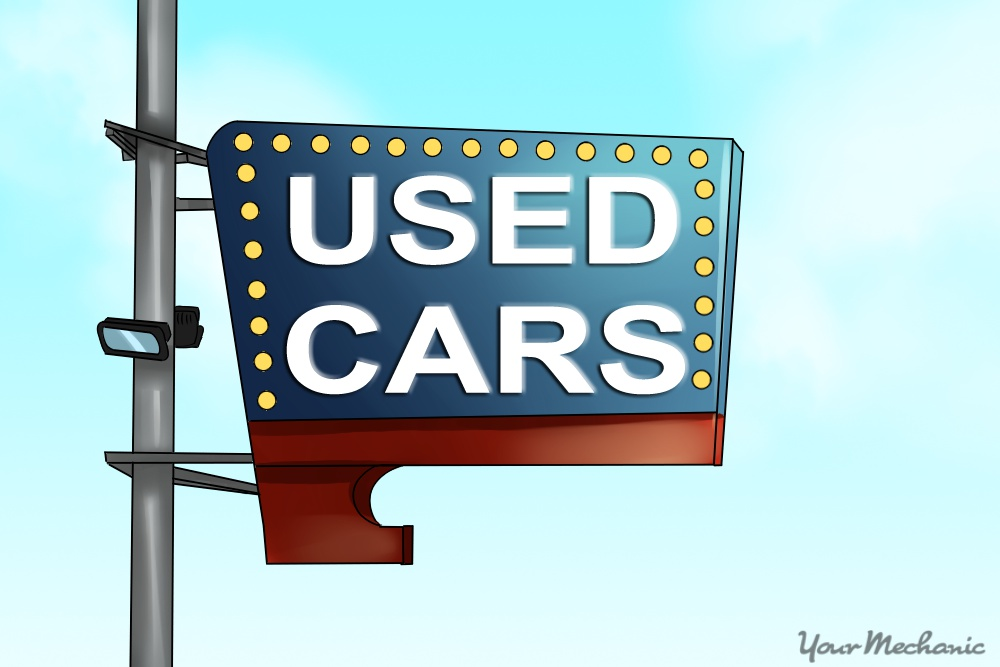 used car sign