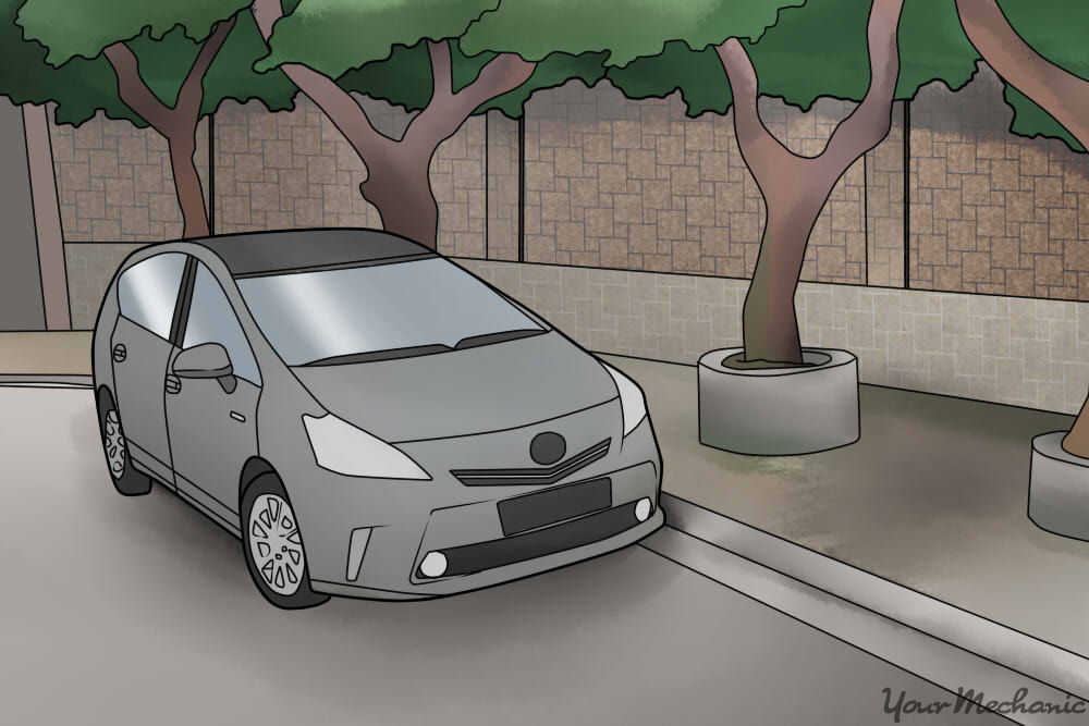 toyota prius parked in street