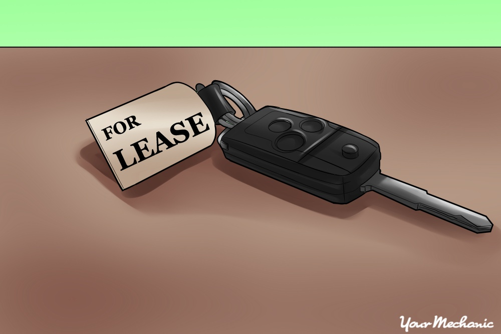 car key with lease tag