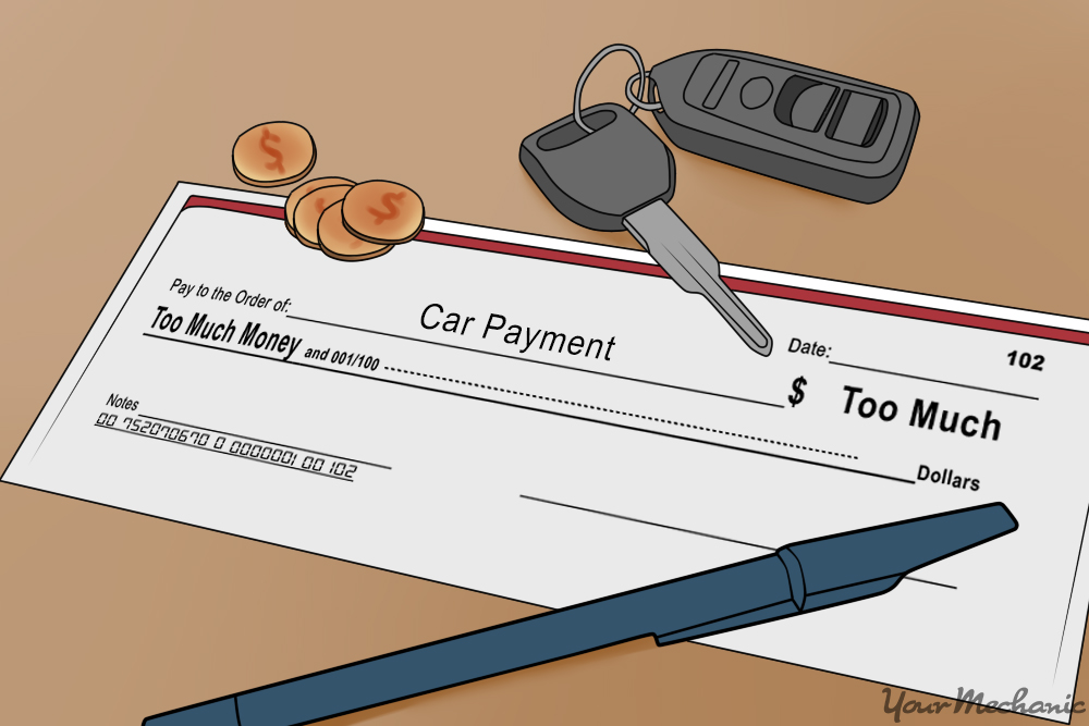 car payment check with keys in view
