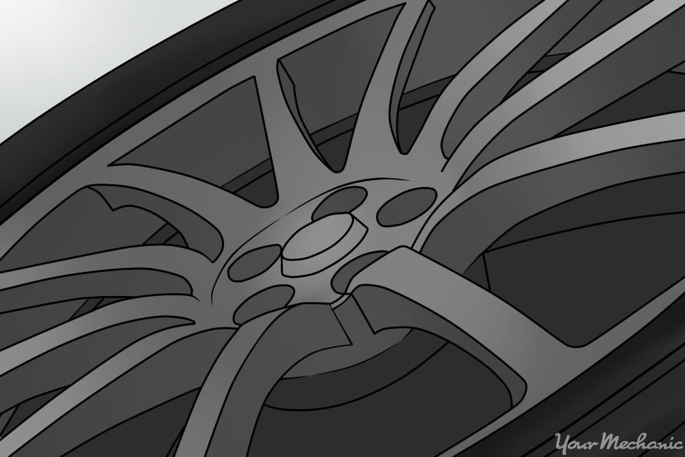 close up of car wheel
