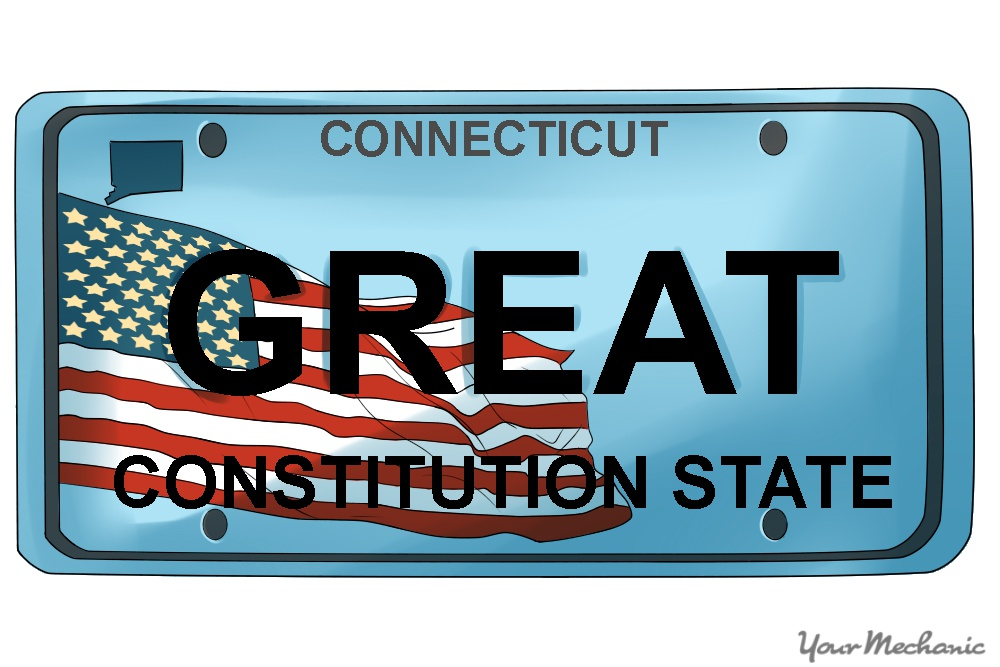 personalized Connecticut license plate