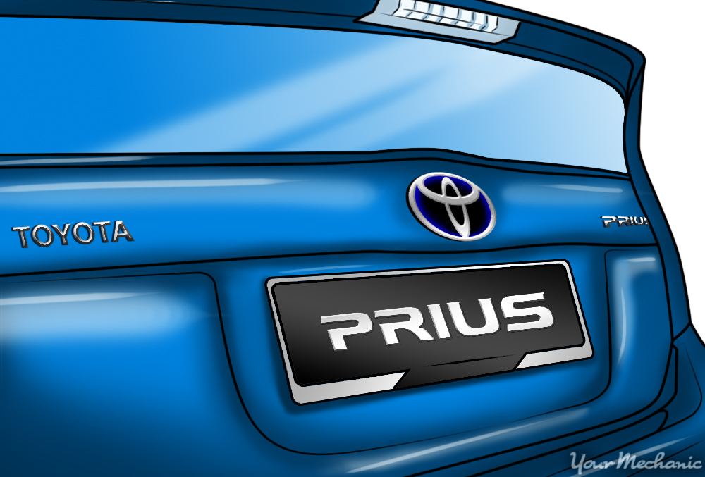 close up of prius back side