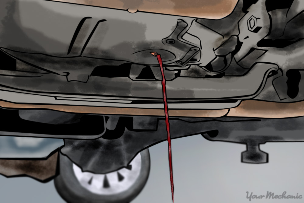 transmission fluid draining under car