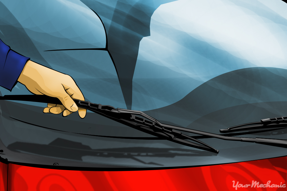 hand adjusting wiper blade