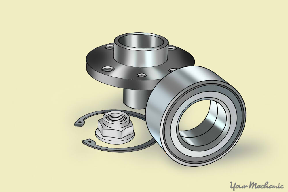 picture of hub assembly with all of its components