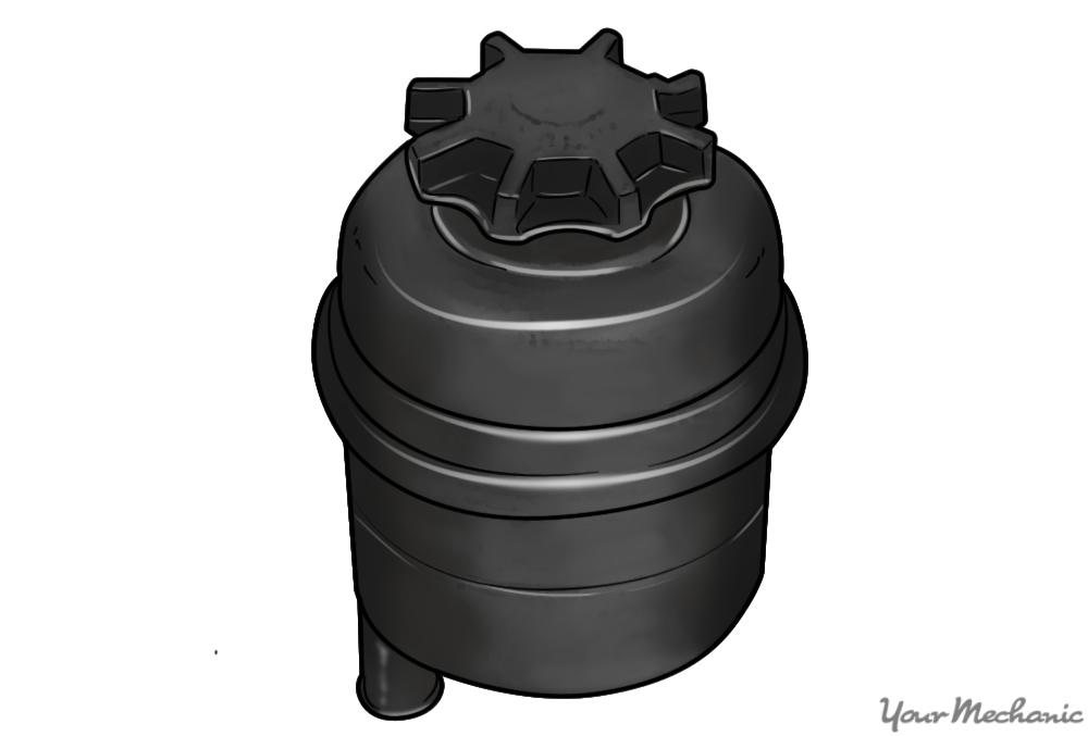 power steering fluid reservoir