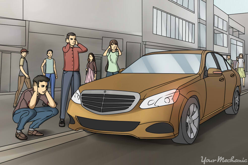 1 How to Shut Off an Alarm That Won%27t Quit car parked on road with people around looking annoyed how to disable a car alarm yourmechanic advice  at gsmportal.co