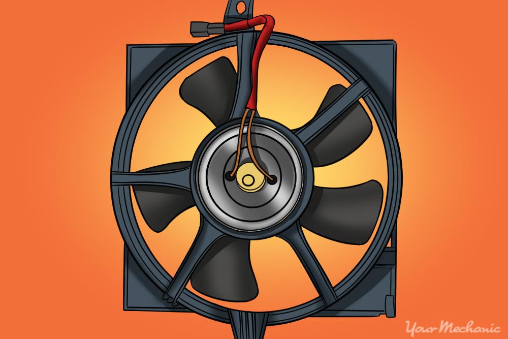 cooling radiator fan motor on a radiator fan