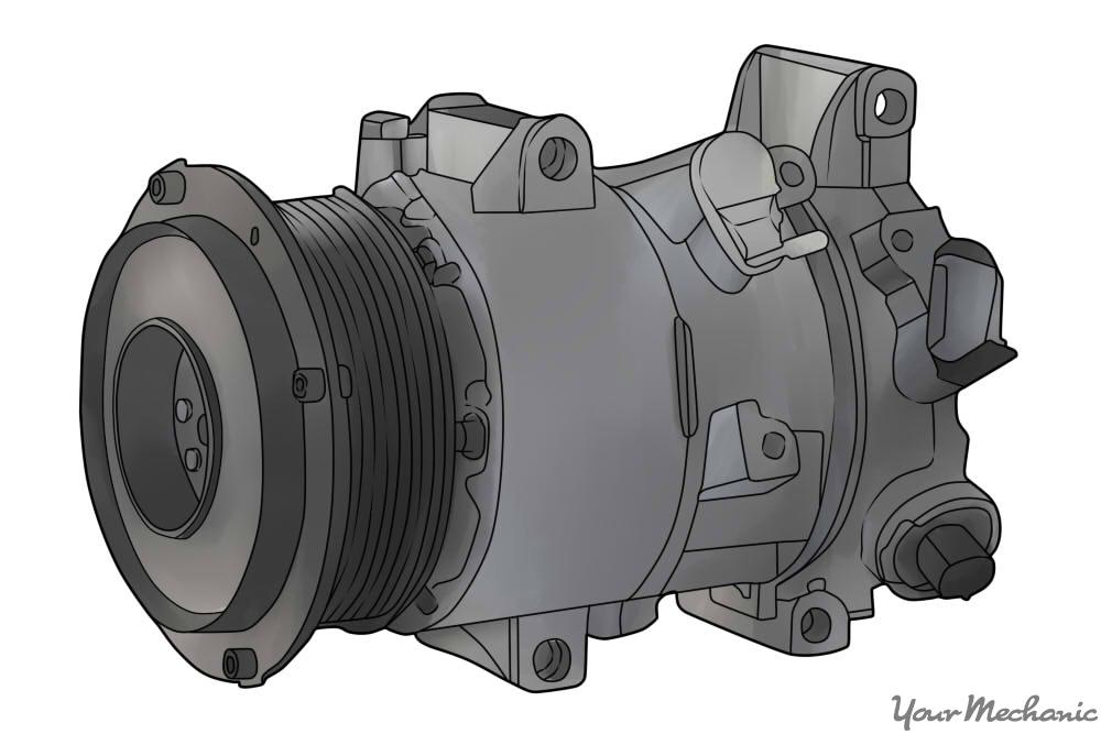 an A/C compressor
