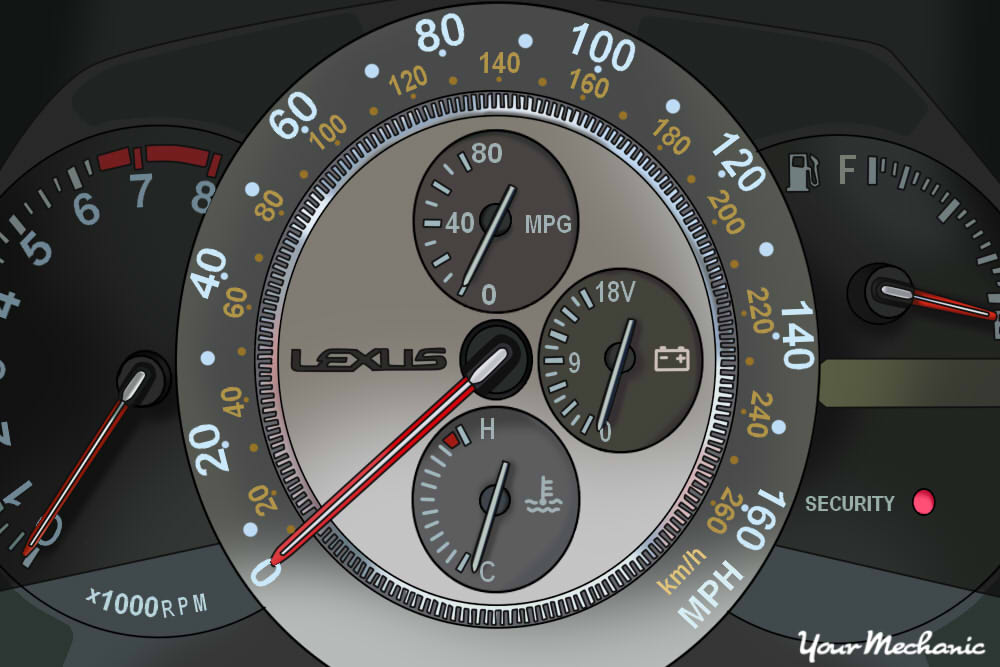 Understanding Lexus Service Indicator Lights - showing instrument panel of a Lexus
