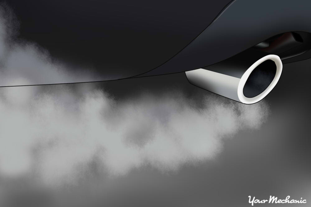 fumes emitting from an exhaust