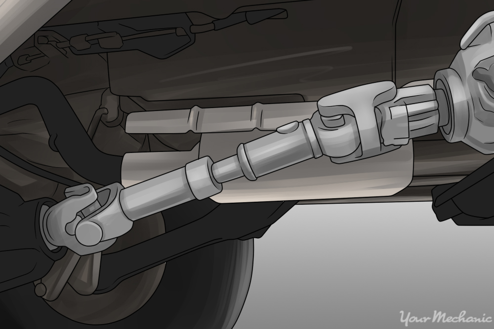 driveshaft in a car