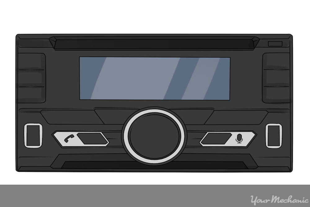 car stereo front view