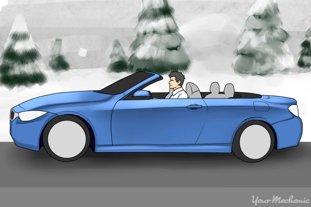 driving through cold weather with top down