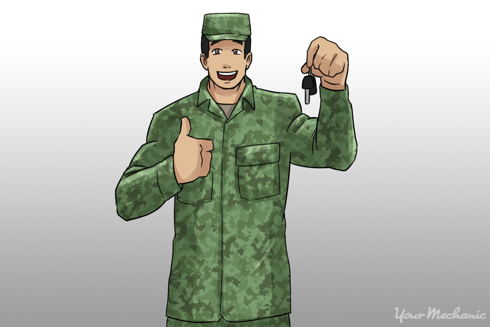 man in army fatigues with keys