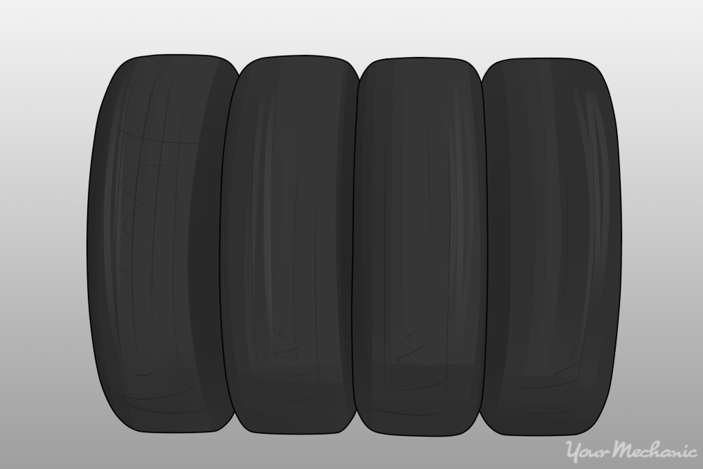 4 tires being shown