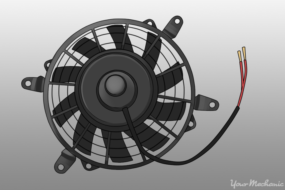 cooling fan with a wire coming out of it
