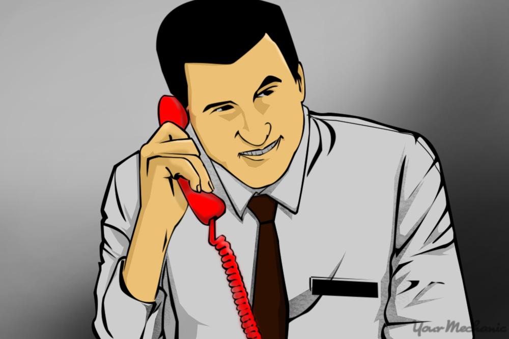 salesman on phone