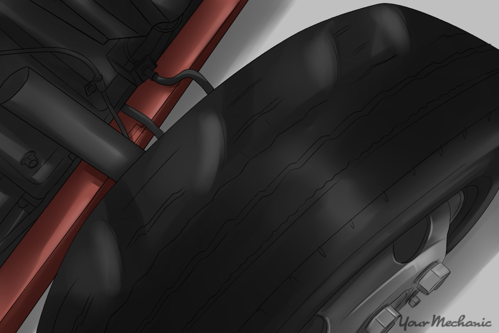 image of tire showing high and low speeds