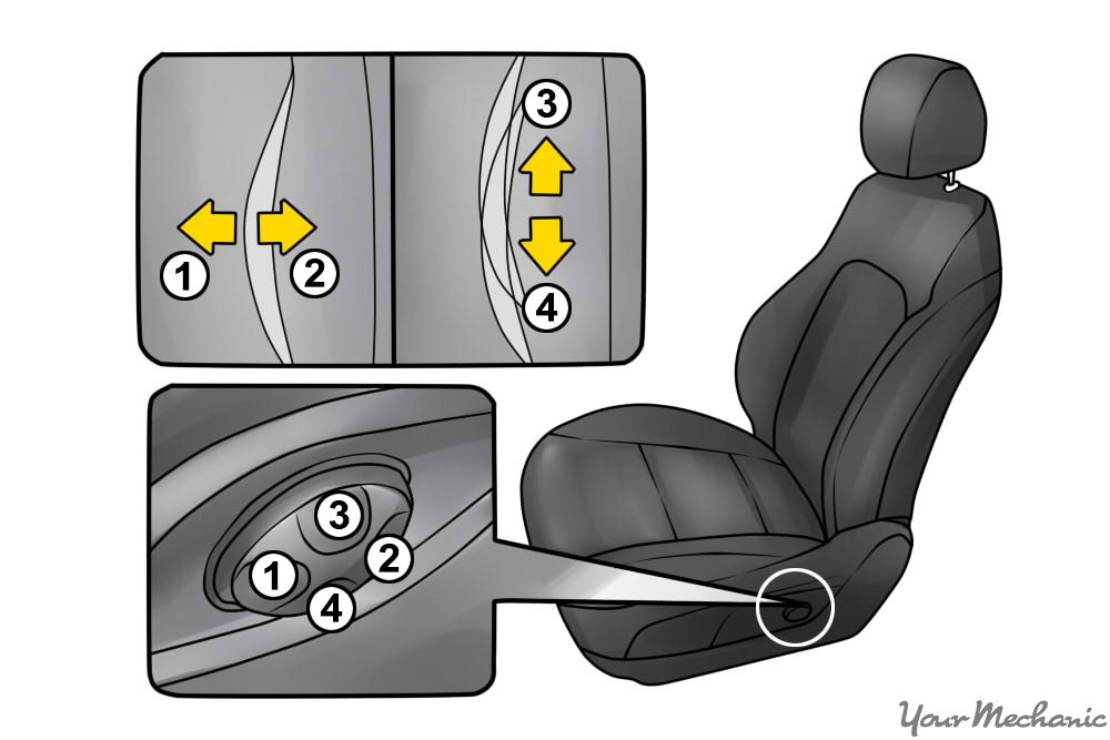 10 How to Sit in a Car Without Back Pain example of lumbar support controls in a car seat how to make your car driver's seat more comfortable yourmechanic  at mifinder.co