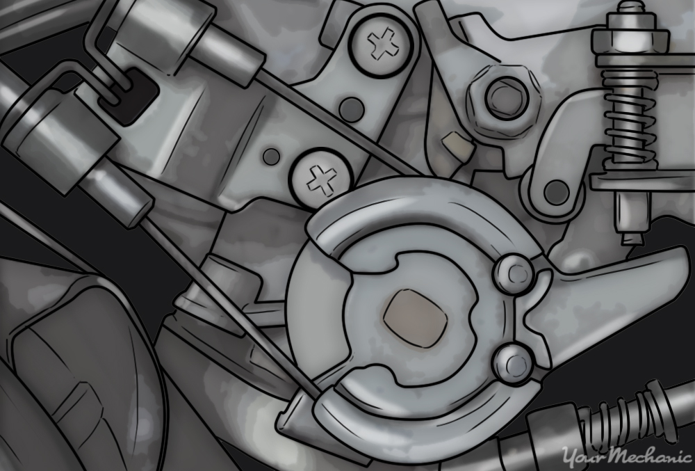 reconnecting throttle cable at the throttle body