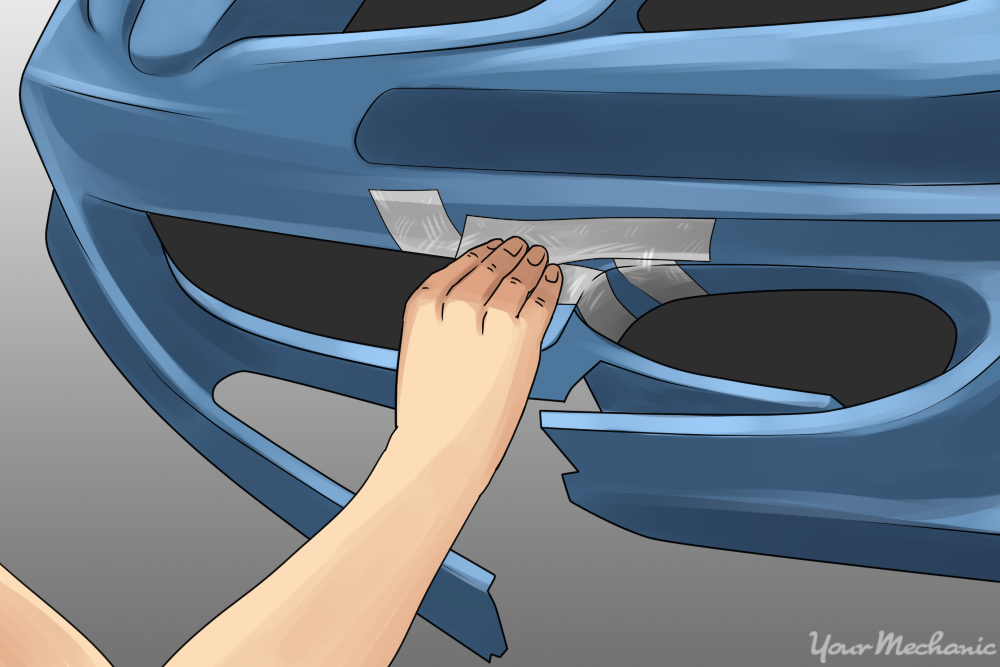 How to fix a damaged plastic bumper