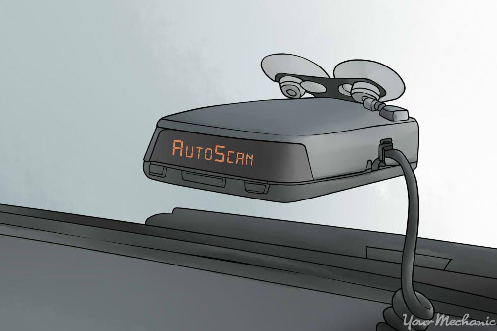 radar detector installed