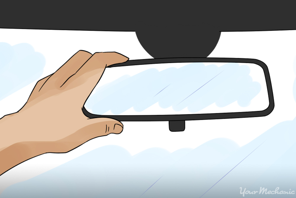 adjusting rearview mirror