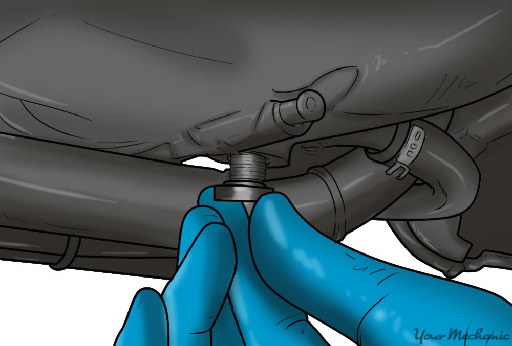 installing the drain plug