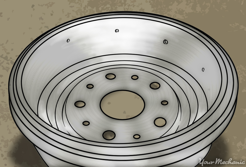 inside of brake drum
