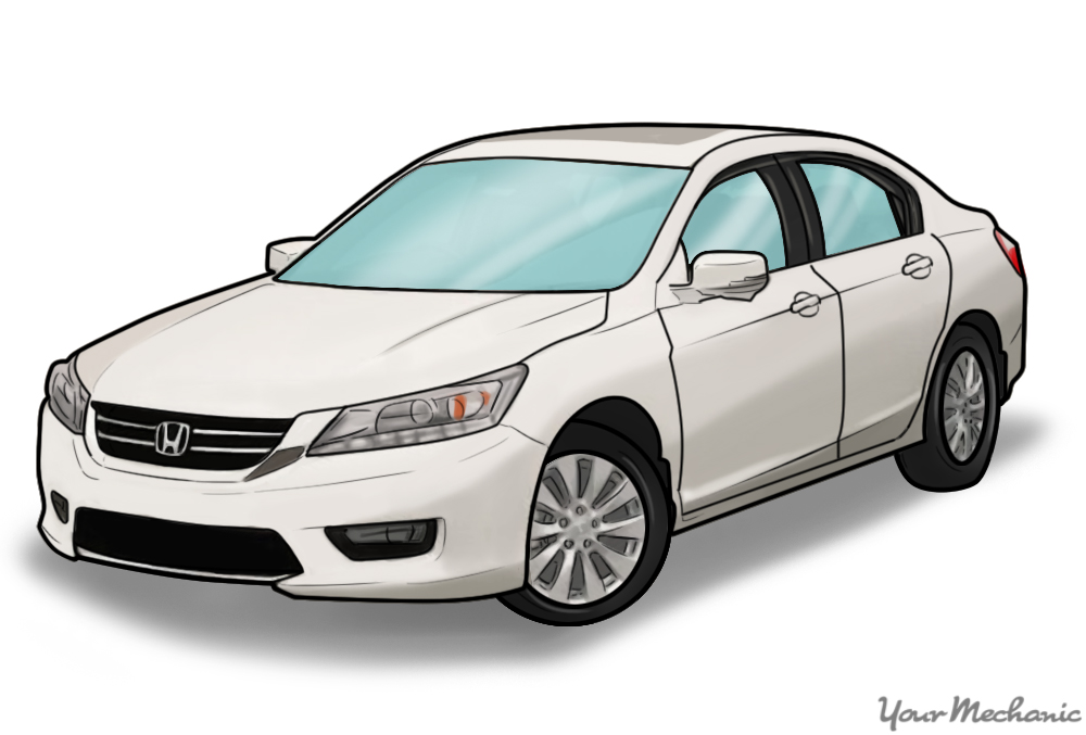 white honda accord