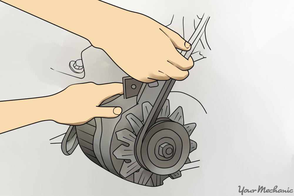 How to replace an air conditioning belt yourmechanic advice